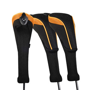 Golf Club Head Cover 3pcs/set Golf Accessories Interchangeable No. HeadCovers Protect Set CTMT-01