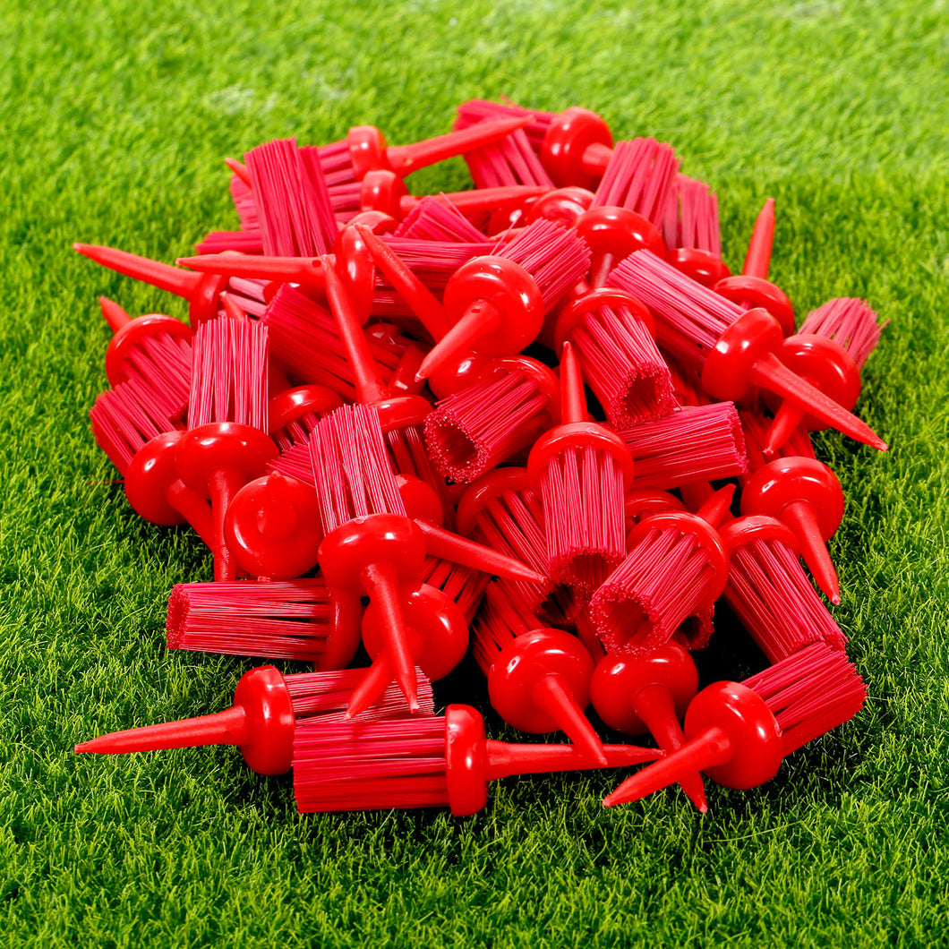 gohantee Plastic 1 Pack 50pcs 62mm Golf Tees Brush Driver Training Accessories Tool Golf Ball Holder Golf Brush Tee Mixed Colors