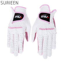 Load image into Gallery viewer, SURIEEN 1 pair Cabretta Leather Women Golf Gloves Breathable Soft Sport Gloves Genuine Female Model Leather Golf Gloves Non-Slip