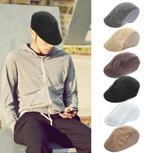 Load image into Gallery viewer, New Arrival Autumn Style Comfortable Breathable Linen Beret Flat Cap Peaked Cap Golf Hat For Men & Women