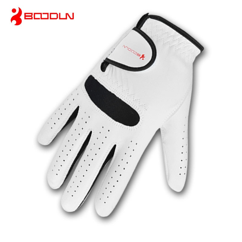 1 PCS Genuine Leather Men's Golf Gloves Adjustable Breathable Soft Sheepskin Glove for Left Right Handed Wear Golf Accessories