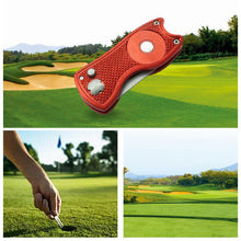 Load image into Gallery viewer, New Foldable Golf Pitchfork Putting Green Fork Golf Training Aids Pitch Alloy Tool Stainless Steel Golf Divot Repair Tool