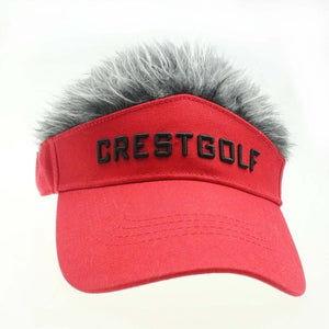 CRESTGOLF Adjustable Fake Hair Golf Cap Men Hat Wig/ Hair Golf Baseball Cap with Several Colors Available