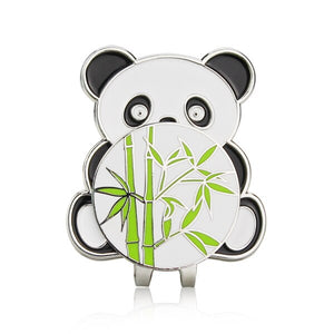 China Panda Style Golf Ball Marker w Magnetic golf hat clip, golf cap clips, Alloy Professional Ball Mark
