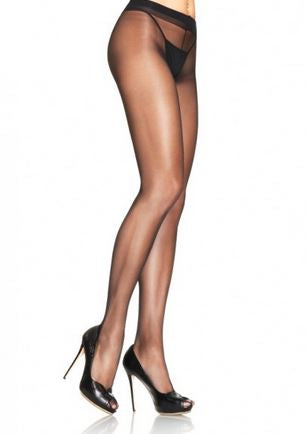 Spandex Sheer to Waist Support Pantyhose - One Size - Black LA-0907BLK