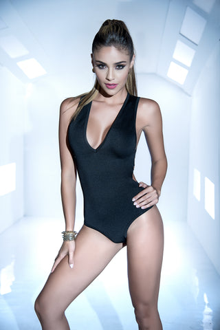 Bodysuit - X-Large - Black GE-2472BLK-XL