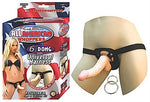 All American Whoppers 6.5-Inch- Dong With Universa Harness- Flesh NW2323-1