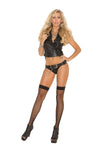Fishnet Thigh Hi - Queen Size - Black EM-1744QB