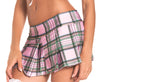 Pink Pleated School Girl Skirt - Small/ Medium BW-830PK-SM