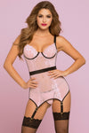 Blush Bond Chemise Set  - Extra Large - Pink STM-10749-PNKXL