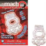 The Macho Crystal Collection-Double Ring-Clear NW2239