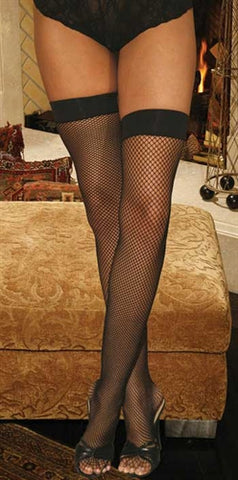 Fishnet Thigh Hi - Black EM-1744B