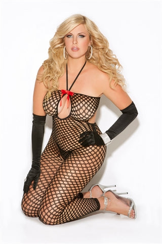 Crochet Body Stocking - Queen Size - Black EM-8590Q