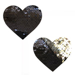 Sequin Medusa Magic Flip Black to Silver I Heart  U Nipztix Pasties NN-SQ-MED-NS