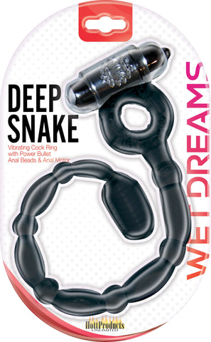 Wet Dreams Deep Snake - Black HTP2938