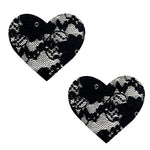 Vogue Black Lace I Heart U Nipztix Pasties NN-BLA-LAC-NS