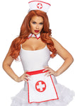 3 Pc Nurse Kit - One Size - White/red LA-A2872
