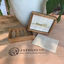 Load image into Gallery viewer, Bamboo Soap Dish & Loofah Liner