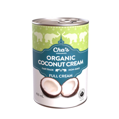 Cha's Organics Organic Coconut Cream Fair Trade Non-GMO Full Cream