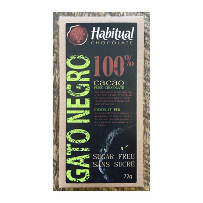 Habitual Chocolate Bar Sugar Free 72g