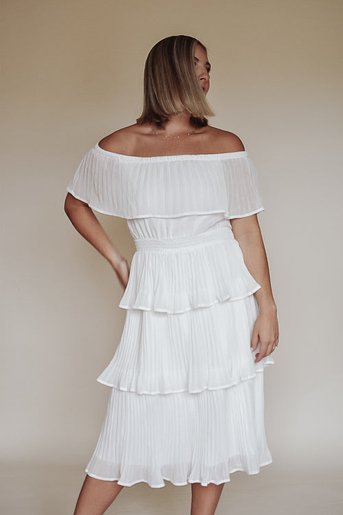 Love Story Tiered Ruffle Dress