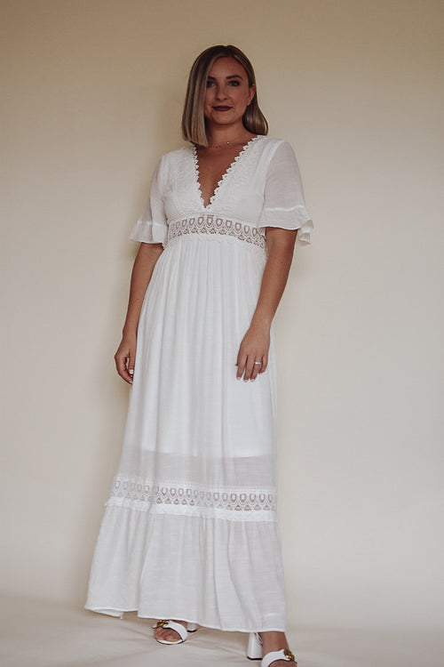 Genae Smocked Maxi Dress