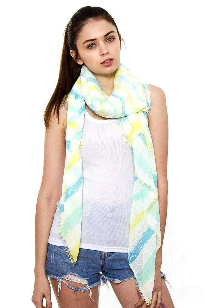 Striped Oblong Scarf-How to buy?
