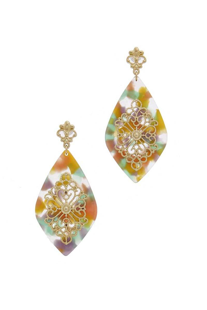 Teardrop Moroccan Pattern Earring - Naughty Smile Fashion