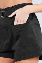Load image into Gallery viewer, NSF Side Pocket Rolled Up Paper Bag Cotton Short Pants - Naughty Smile Fashion