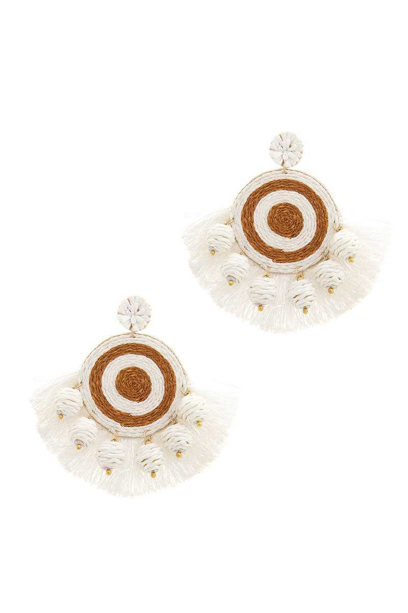Fashion Fan Tassel Drop Earring - Naughty Smile Fashion