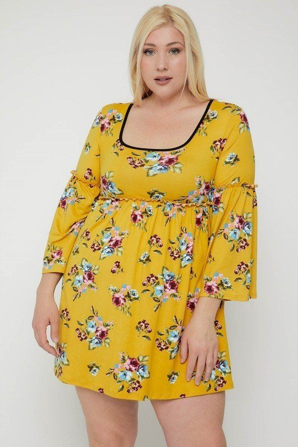 Floral Print Dress - Naughty Smile Fashion
