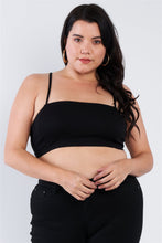 Laden Sie das Bild in den Galerie-Viewer, Plus Size Open Stripe Back Cami Strap Athletic Lounge Bra - Naughty Smile Fashion