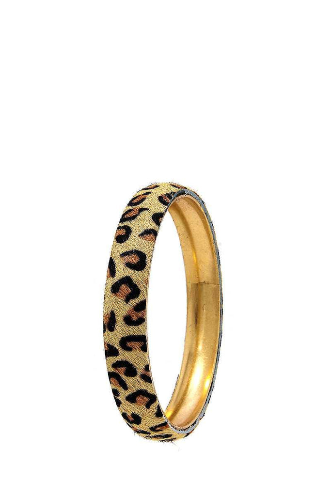 Animal Print Metal Bangle Bracelet - Naughty Smile Fashion