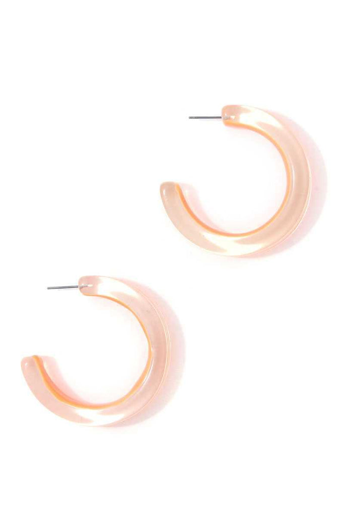 Chic Transparent Hoop Earring - Naughty Smile Fashion