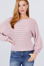 Load image into Gallery viewer, Dolman Sleeve Boat Neck Sweater - Naughty Smile Fashion