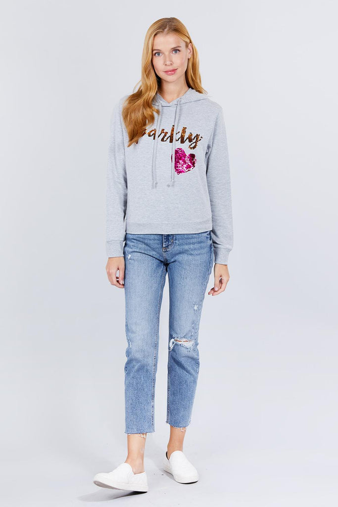Sparkly Sequins Hoodie Pullover - Naughty Smile Fashion
