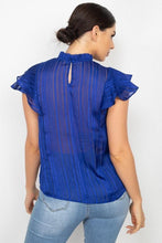 Load image into Gallery viewer, Short Sleeve Ruffle Shadow Top - Naughty Smile Fashion