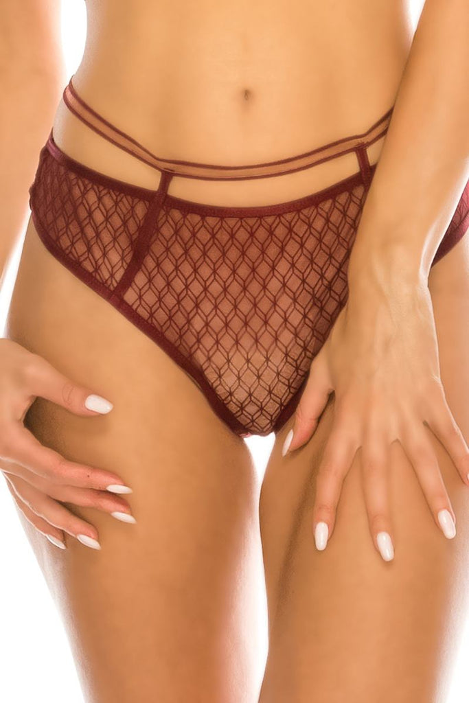 Geometric Mesh Bikini - Naughty Smile Fashion