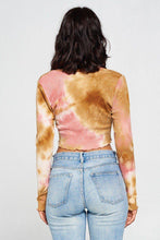 Laden Sie das Bild in den Galerie-Viewer, Long Sleeve Tie Dye Crop Top - Naughty Smile Fashion