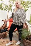 Boat Neck Long Bubble Sleeve Snake Print Knit Top - Naughty Smile Fashion