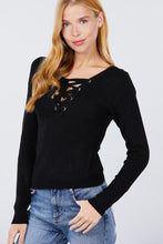Load image into Gallery viewer, NSF V-neck Eyelet Strap Back Sweater ,Dresses, Waist Trainers, Shapers, Accessories | NaughtySmileFashion - Naughty Smile Fashion
