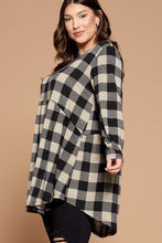 Load image into Gallery viewer, Soft Knit Buffalo Plaid Tunic Top