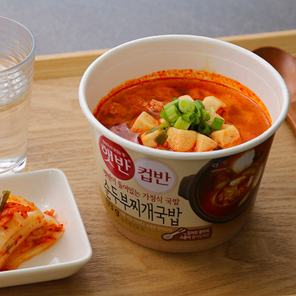 CJ Cupban Soon Tofu Stew Rice