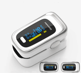 Fingertip Pulse Oximeter White Silver