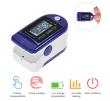 Blue Finger Oximeter for Household Use