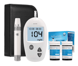 Blood Sugar Test Kit Diabetes Monitor Blood Glucumeter with 50 Test Strips and 50 Lancets