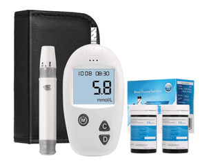 Blood Sugar Test Kit Diabetes Monitor Blood Glucumeter with 50 Test Strips and 50 Lancets Media 1 of 7
