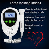 Ultrasound Baby Doppler, Fetal Heart Rate Monitor, Potable Baby Heart Detector for Home Use