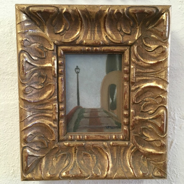 Painting of a Stepped Pathway in a Small Gilt Frame
