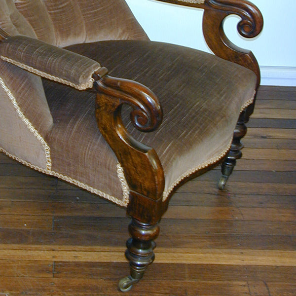 A0077: Victorian Open Arm Chair
